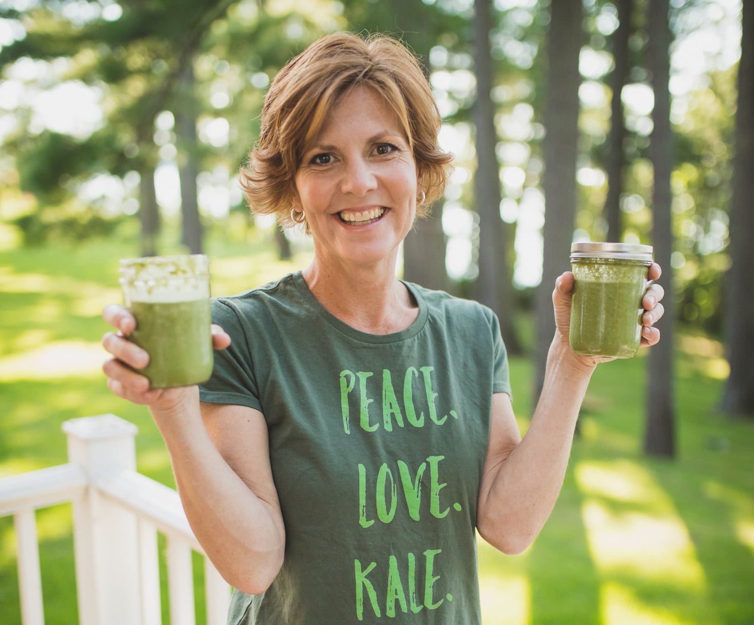 Jackie Holding Green Smoothies