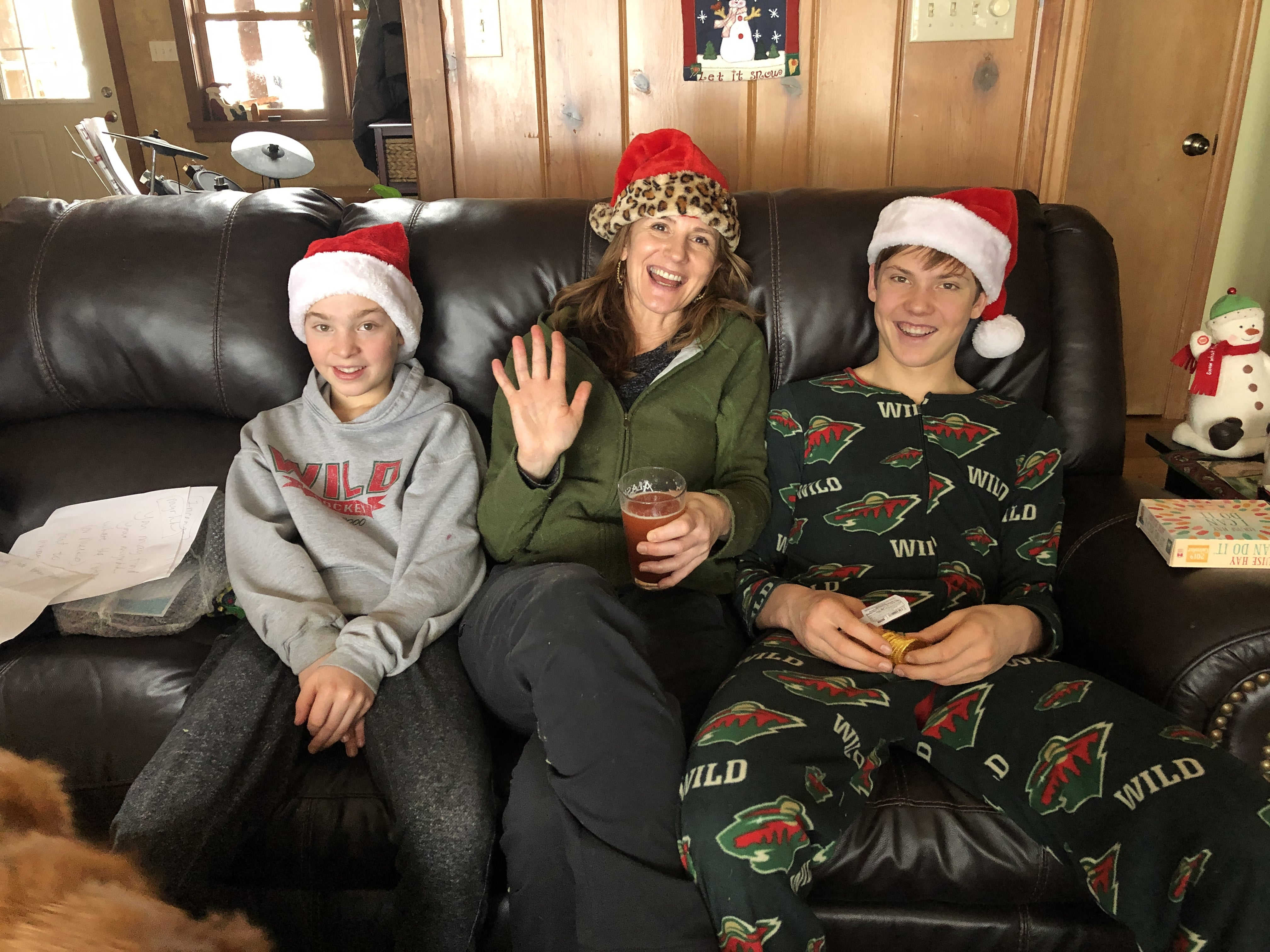 Christmas morning with Auntie.